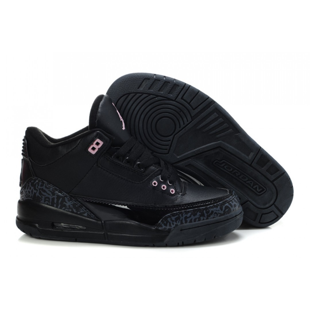 Women Air Jordan 3 Black